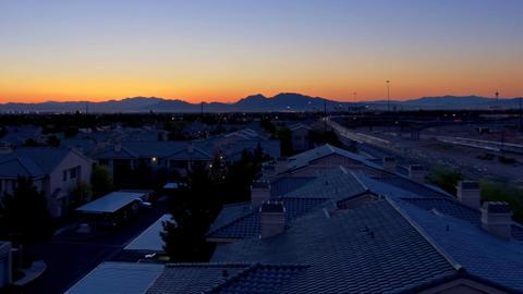 Hospital sunrise panning Footage