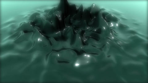 Abstract Reflective Jelly deform Animation for Intro - Fixed Cam - BlueGreen Animation