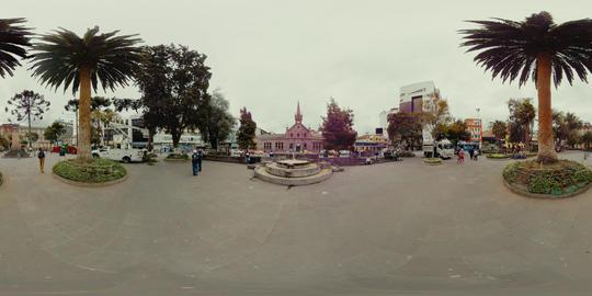 360Vr Cevallos Park And La Providencia School In Ambato Ecuador Footage