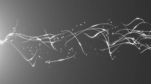 Turbulent White particle Animación