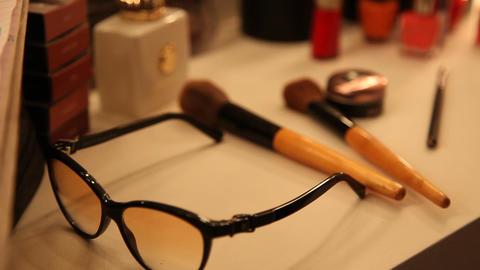 Makeup kit in room Footage