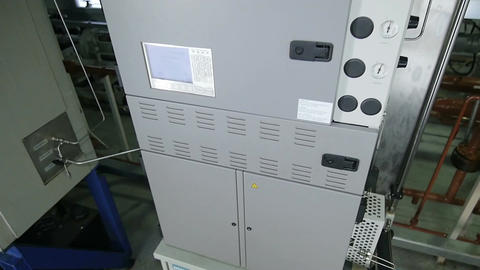 Closeup Equipment with Logo and Equipped with Control Board Footage