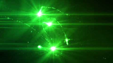 SHA Green Light particle Effects Animation