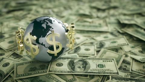 US Economy - Money stock footage