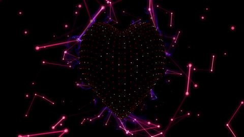 Valentine Heart 4K 02 Vj Loop, Stock Animation