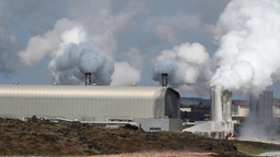 Polluting factory in Iceland Footage