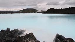 Iceland Blue Sea Landscape Footage