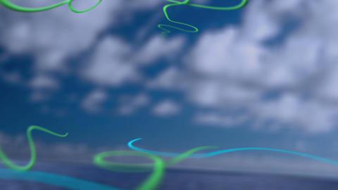 Ocean Vines Title Background Animation