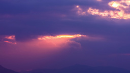 Aerial beautiful pan of change color during beautiful sunset time lapse Footage