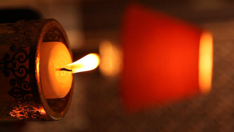 Candle Light at Home Footage