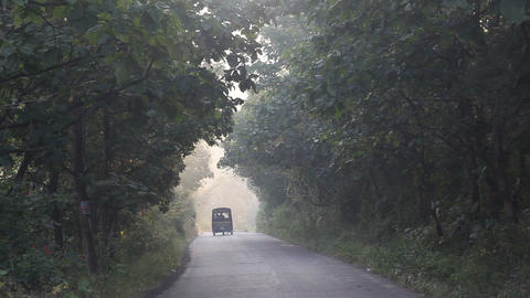 Rural area Tar Road in India Footage