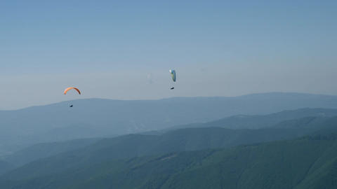 Active hobby paragliding in sunny day Footage