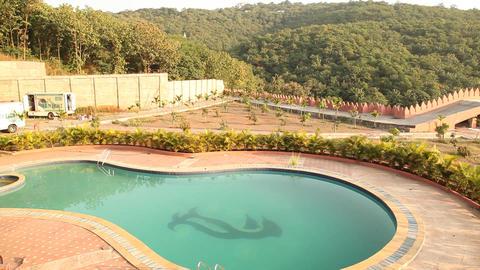 Swimming pool in the resort Image