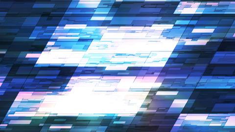 Twinkling Horizontal Slant Hi-Tech Small Bars, Blue, Abstract, Loopable, 4K CG動画素材