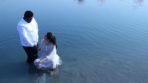 Baptism ceremony Footage