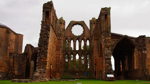 Elgin The Holy Trinity Cathedral on a rainy day Footage