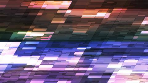 Twinkling Horizontal Slant Hi-Tech Small Bars, Multi Color, Abstract, Loopable, 4K Animation