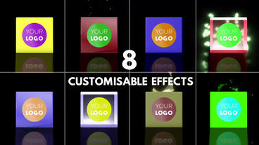 Customisable Cube Logo Reveal - With Effects Plantilla de After Effects