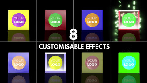 Customisable Cube Logo Reveal - With Effects After Effects Template