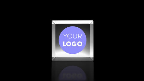 Glass Cube Logo Reveal After Effects Template