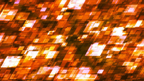 Broadcast Twinkling Slant Hi-Tech Squares, Orange, Abstract, Loopable, 4K Animation