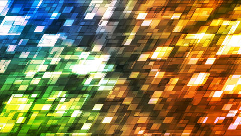 Broadcast Twinkling Slant Hi-Tech Squares, Multi Color, Abstract, Loopable, 4K Animation