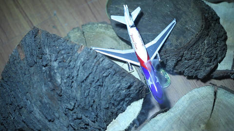 Flight Accident Aerial view Live Action