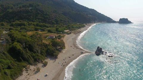 Potami Beach of Samos Island in Greece 1 Stock Video Footage