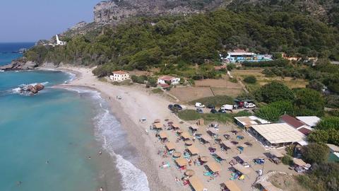 Potami Beach of Samos Island in Greece 2 Footage