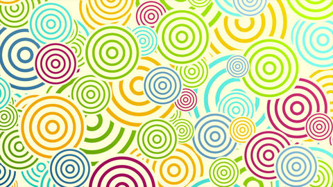Colorful rings or circles abstract video animation Animation