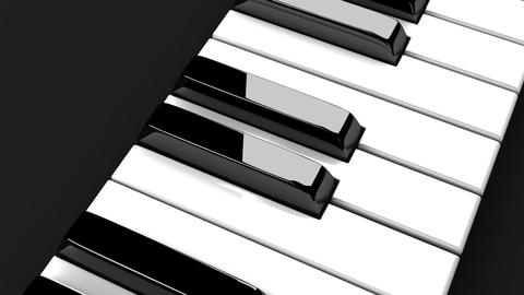 Piano Keyboard On Black Background Stock Video Footage