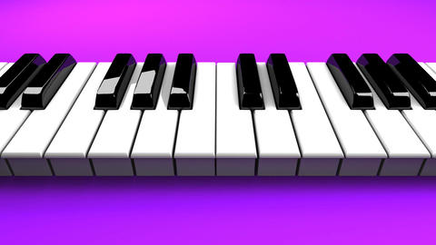 Piano Keyboard On Purple Background Animation