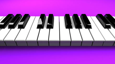 Piano Keyboard On Purple Background Stock Video Footage