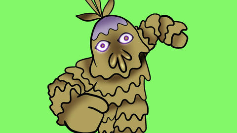 Cartoon dash monster Animation