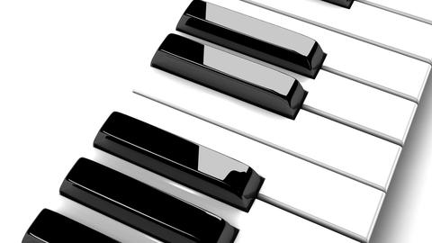 Piano Keyboard On White Background Animation