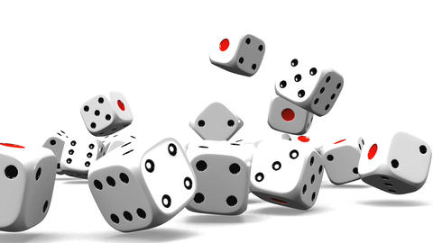 Dice On White Background CG動画