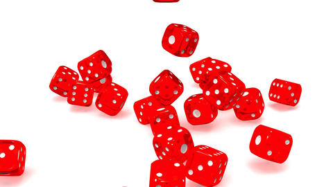 Red Dice On White Background CG動画