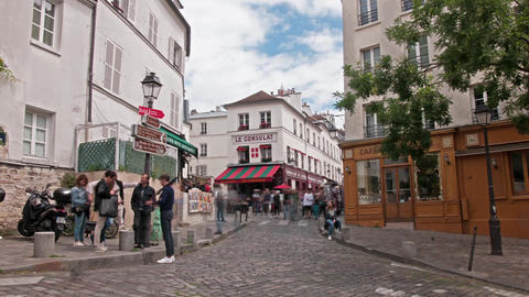 Montmartre district in Paris Footage