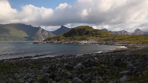 View on Knuten peak, Senjahopen, Norway Filmmaterial