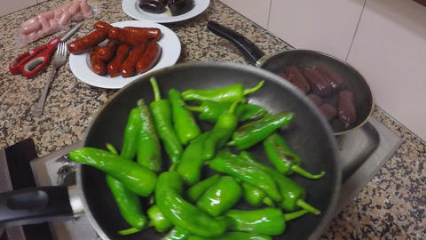 Green Peppers Fried Image