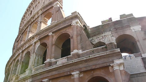 Colosseum - the main tourist attractions of Rome, Italy. Ancient Rome Ruins of Footage