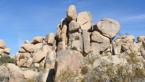 Big rocks, Zoom out time lapse of rock piles in Joshua tree national park, in Ca Footage
