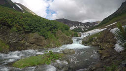 Rough mountain river in sunny weather Footage