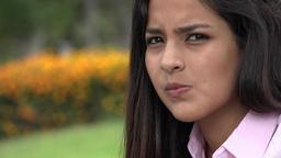 Serious Teen Girl Wondering Footage