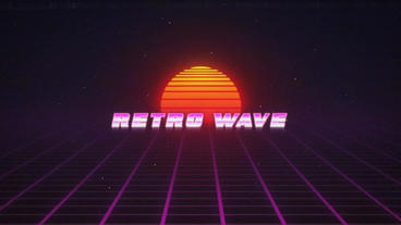 Retro Wave Intro After Effects Templates