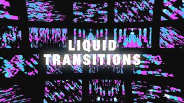 Liquid Glitch Transitions After Effects Templates