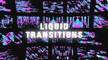 Liquid Glitch Transitions Plantilla de After Effects