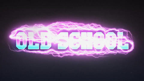 Retro Wave Old School After Effects Template