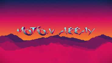 Retro Wave Flat Design After Effects Templates