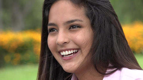 Beautiful Girl Teenager Smiling Live Action